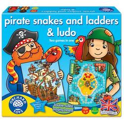 Pirate Snakes and Ladders and Ludo - Joc de societate: Piratii ORCHARD TOYS