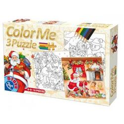 Puzzle Craciun Color me 3 in 1 D TOYS
