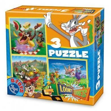 3 Puzzles - Looney Tunes D TOYS