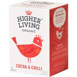 Ceai de Cacao si Chilli Ecologic/Bio 15dz HIGHER LIVING