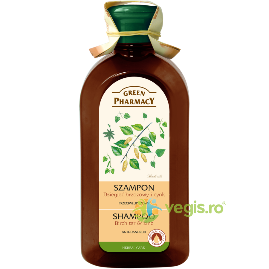 GREEN PHARMACY Sampon Antimatreata cu Gudron de Mesteacan si Zinc 350ml
