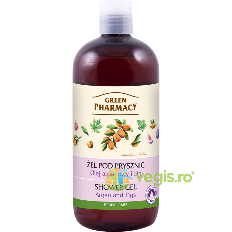 GREEN PHARMACY Gel de Dus cu Ulei de Argan si Smochine 500ml