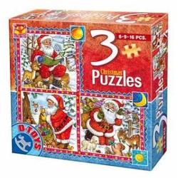 Puzzle Craciun 3 in 1 D TOYS