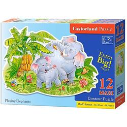 Puzzle 12 Maxi - Playing Elephants CASTORLAND