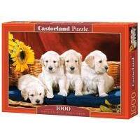 Puzzle 1000 Castorland - Puppies with Sunflower