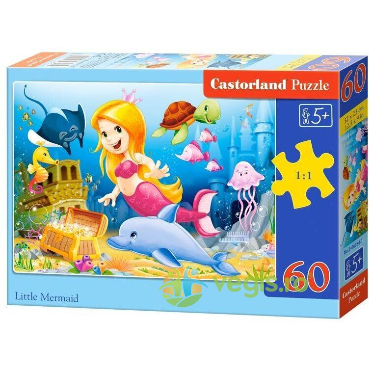 Puzzle 60 Castorland – Little Mermaid