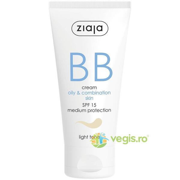 BB Cream Pentru Ten Gras Si Mixt SPF 15 - Light 50ml ZIAJA