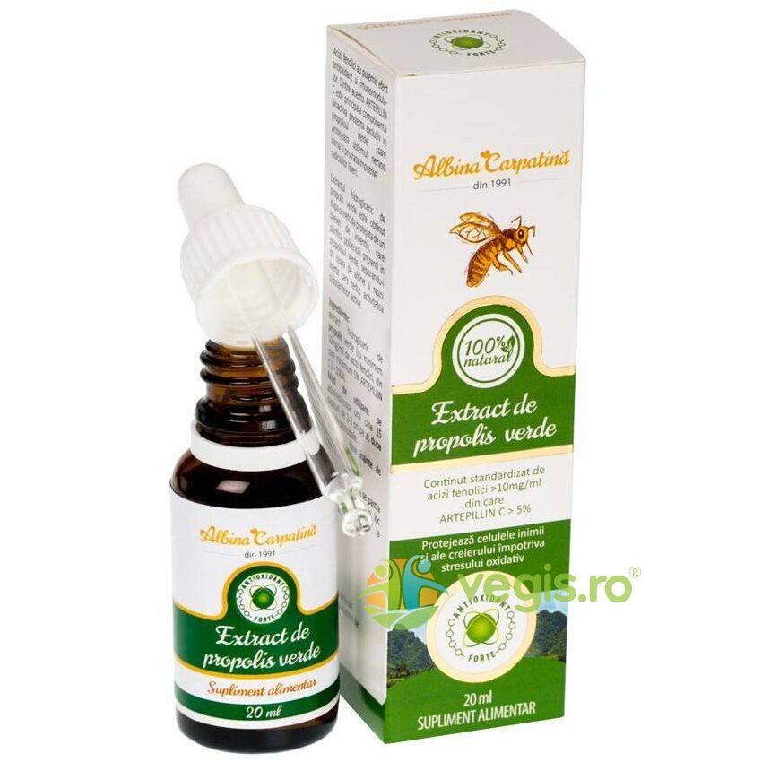 ALBINA CARPATINA Extract de Propolis Verde 100% Natural 20ml