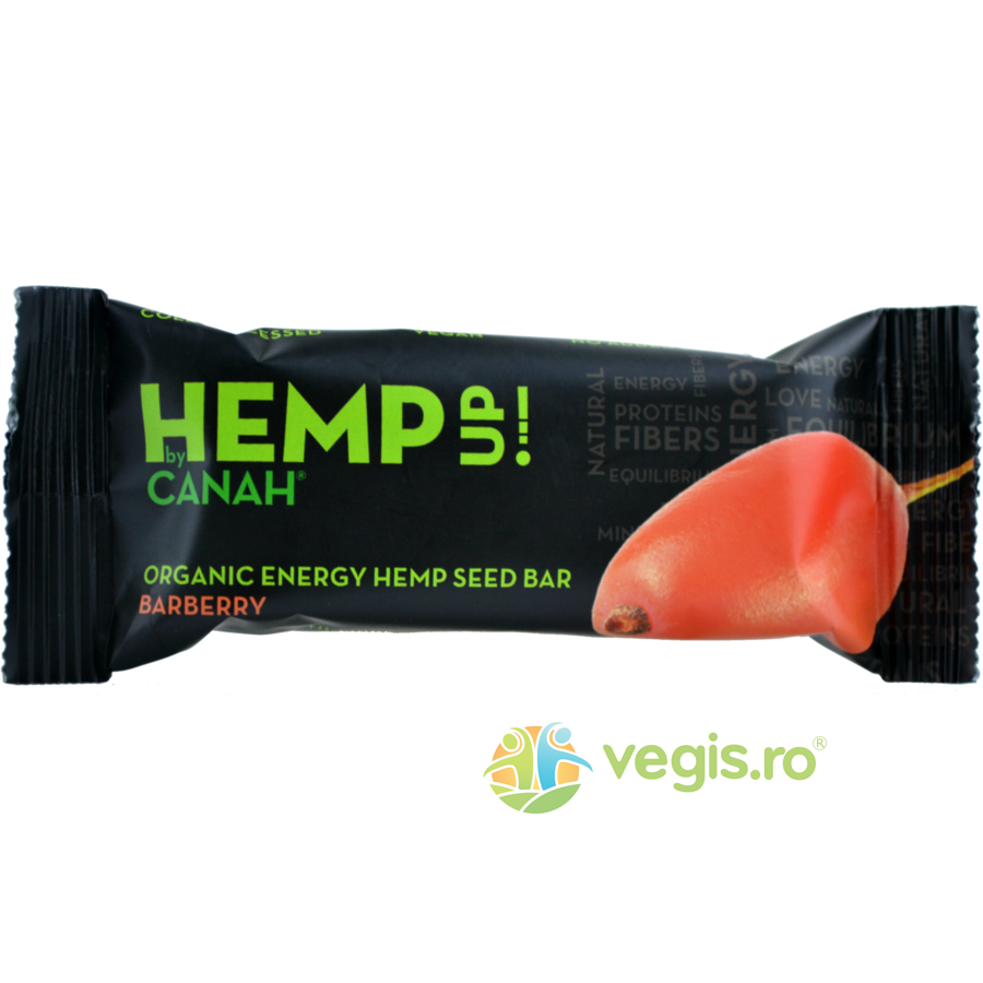 Baton Din Seminte De Canepa si Agrise Hemp Up Ecologic/Bio 48gr imagine produs 2021