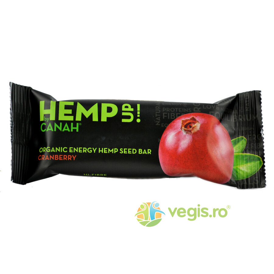 Baton Din Seminte De Canepa si Merisoare Hemp Up Ecologic/Bio 48gr imagine produs 2021