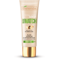 "TOTAL LOOK MAKE-UP Fond de ten ""Ideal match"" bej deschis (light beige) 01 – 30g BIELENDA"