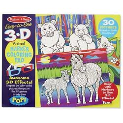 Caiet de colorat 3D animale 3 ani + Melissa and Doug