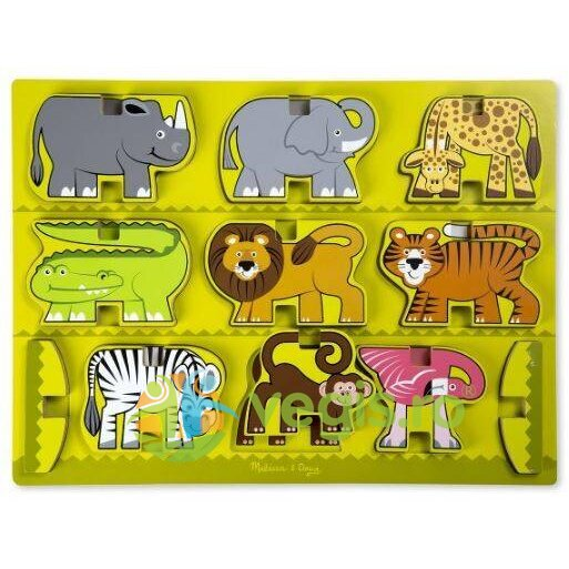 puzzle in relief: animale de la zoo melissa and doug