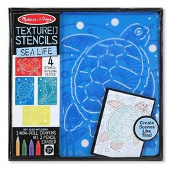 Set de sabloane texturate Animale marine - Melissa and Doug