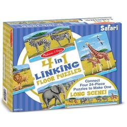Set 4 Puzzle de podea conectabile: Safari 4 ani+ Melissa and Doug