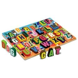Puzzle lemn in relief Litere - Melissa and Doug