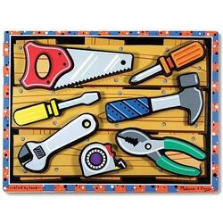 Puzzle lemn in relief Uneltele - Melissa and Doug