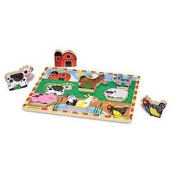 Puzzle in relief Animale de ferma Melissa and Doug
