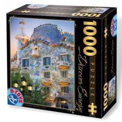 Puzzle 1000 Discover Europe - Casa Batllo. Barcelona. Spain (65995-04) D TOYS