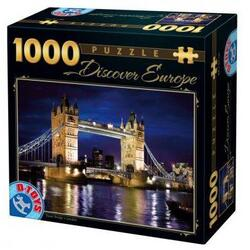 Puzzle 1000 Discover Europe - Tower Bridge. London (65995-01) D TOYS