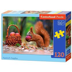 Puzzle 120 Castorland - Squirrel's Supplies