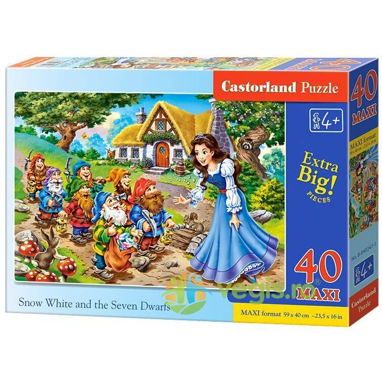 Puzzle 40 Maxi – Snow White and The Seven Dwarfs CASTORLAND