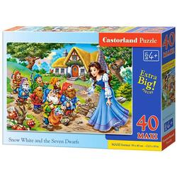 Puzzle 40 Maxi - Snow White and The Seven Dwarfs CASTORLAND