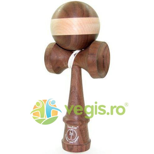 kendama sunrise walnut maple (horizontal stripe ball)