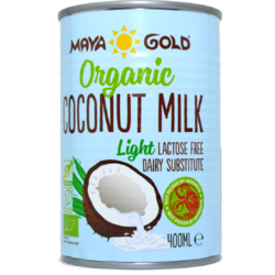 Lapte de Cocos Light (Grasime 6%) Ecologic/Bio 400ml MAYA GOLD