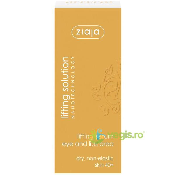 Ser Antirid Pentru Ochi Si Buze 40+ 30ml - Lifting Solution ZIAJA