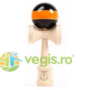 kendama - sunrise stripes classic competition negru+portocaliu
