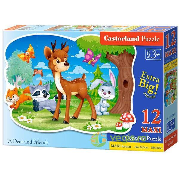 Puzzle 12 Maxi - A Deer and Friends CASTORLAND