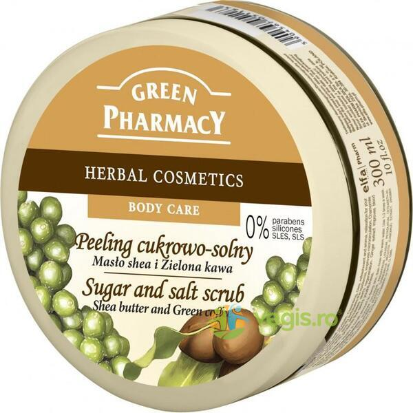 Exfoliant cu Unt de Shea si Cafea Verde 300ml GREEN PHARMACY