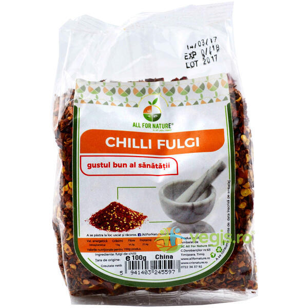Chilli Fulgi 100g ALL FOR NATURE