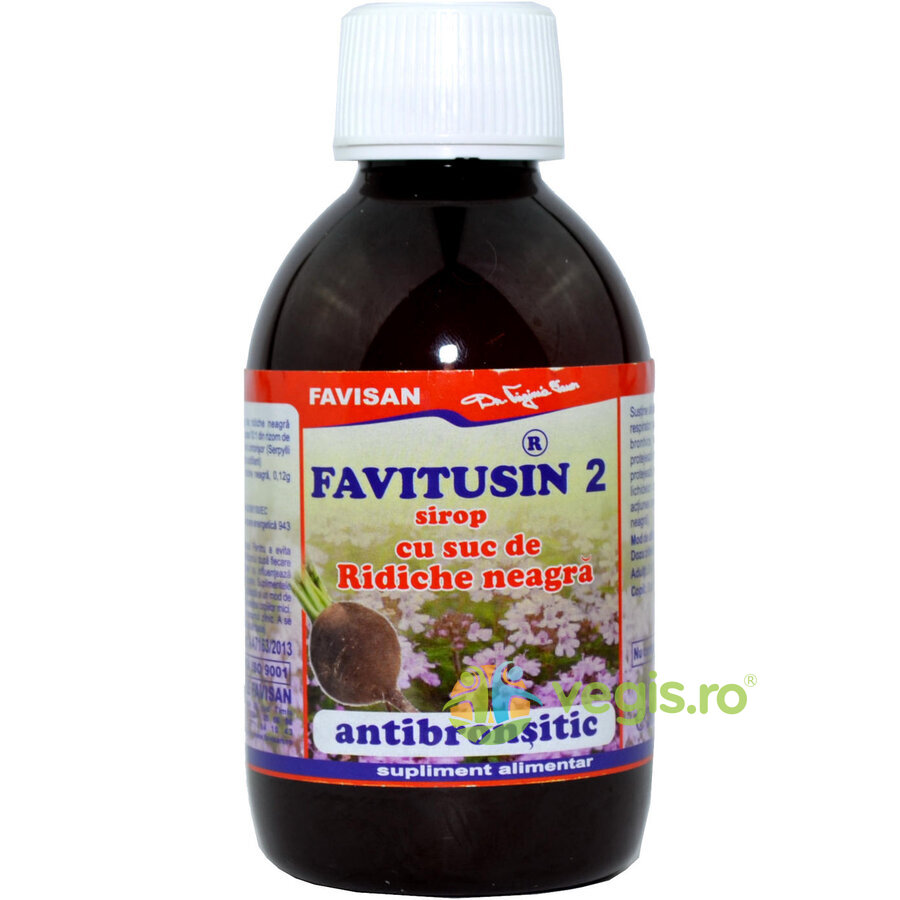 Favitusin 2 - Sirop Antibronsitic cu Suc de Ridiche Neagra 200ml imgine