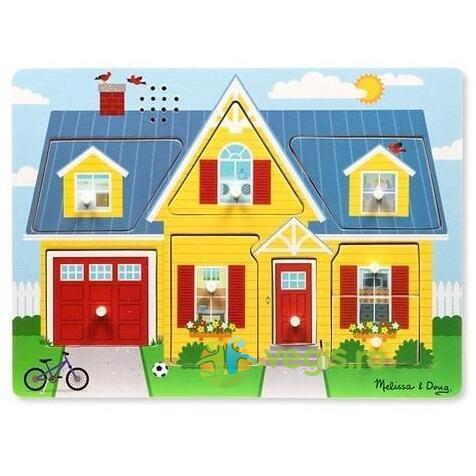 Sound puzzle, Around the house. Puzzle cu sunete, In jurul casei MELISSA AND DOUG