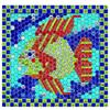 Sticker by number, Tropical fish. Mozaic pe numere, Peste tropical MELISSA AND DOUG