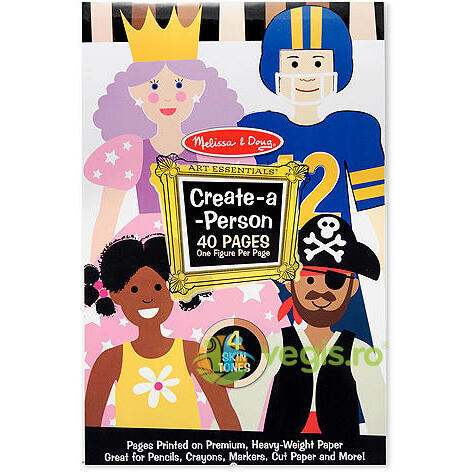 Create a person. Bloc de desen cu manechine predesenate MELISSA AND DOUG