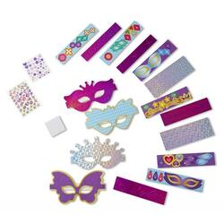 Simply crafty, Masks. Set creatie, Masti sclipitoare MELISSA AND DOUG