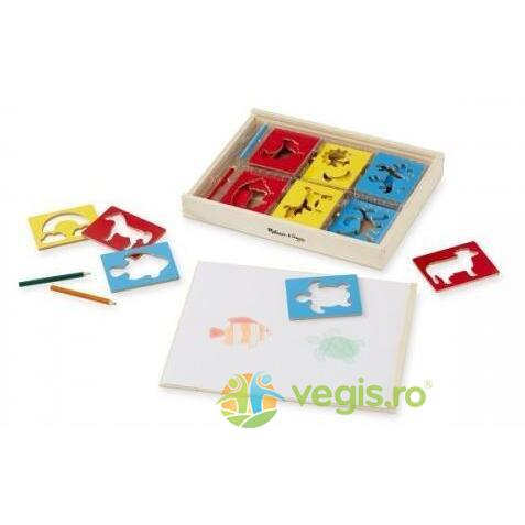 Wooden stencil set. Sabloane din lemn MELISSA AND DOUG