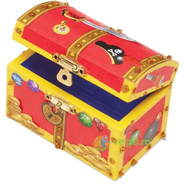 Decorate your own, Pirate chest. Cufarul piratilor MELISSA AND DOUG
