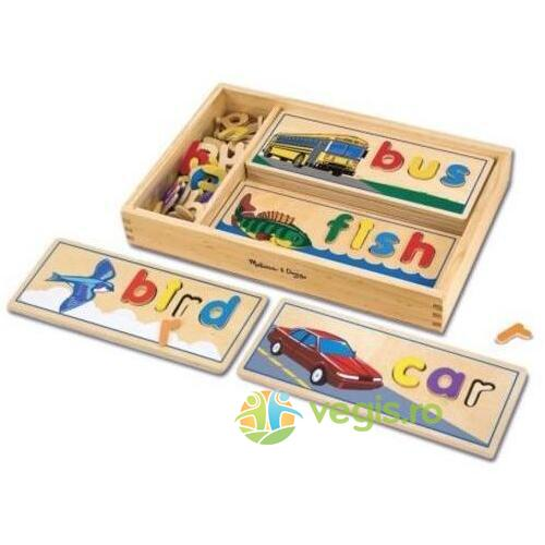 See and spell. Puzzle, Primele cuvinte MELISSA AND DOUG