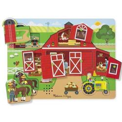 Sound puzzle, Around the farm. Puzzle cu sunete, Ferma MELISSA AND DOUG
