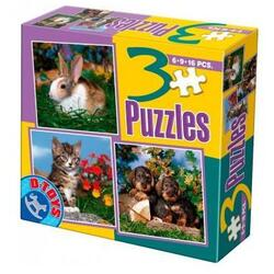 3 Puzzle Animale D TOYS