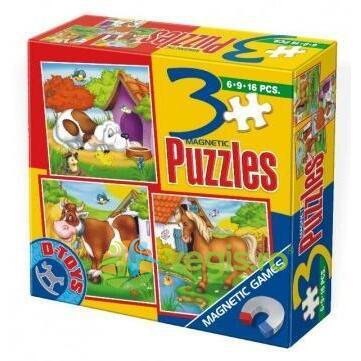 3 Puzzle Magnetic Animale D TOYS