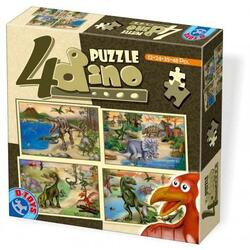 4 Puzzle Dino D TOYS