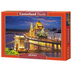 Puzzle 2000. Budapest View at Dusk CASTORLAND