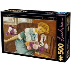 Puzzle 500, Lorica with Chrysanthemums D TOYS