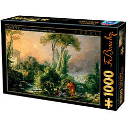 Puzzle 1000 Francois Boucher - Landscape with an antique Temple D TOYS