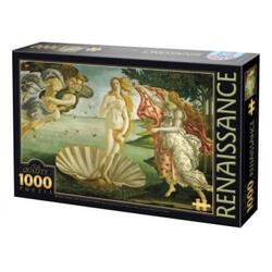 Puzzle 1000 Renasterea - Botticelli - Birth of Venus  (66954-04) D TOYS